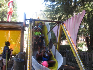 The kids road lots of rides.