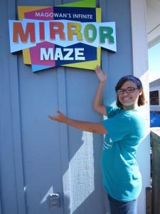 AND do the super fun, super cheap mirror maze....