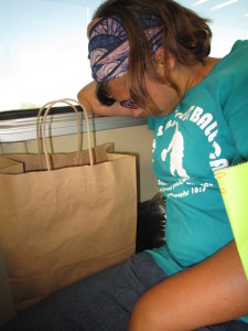 Poor Alix was so exhausted by the end of the day, she slept on BART all the way home.  But I think her day was a success!