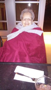 Poor Great Grandma Thompson was freezing but we were sure glad she was with us and we enjoyed visiting with her very much.
