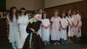 "Afton was the ""head"" angle who talked to the shepherds.  Keri was in the angle choir."