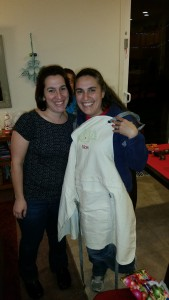 Luv this girl and the new apron she gave me for Christmas.  Thanks Erika!