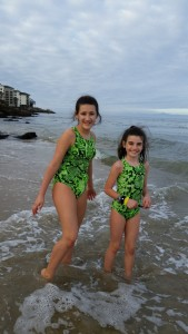 At the beach after the aquarium.  It doesn't seem to matter the temperature.  My kids love the beach!
