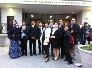 Some of the team outside before going into the courthouse.