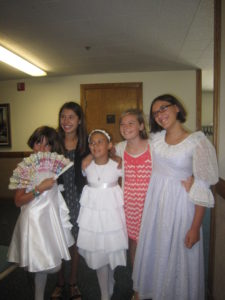 We love that the Bracks come to every baptism.  These girls are all growed up too.